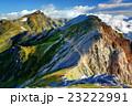 白馬鑓ヶ岳の登りから見る杓子岳と白馬岳 23222991