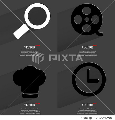 Set of fashionable icons, trending symbols. Flat dのイラスト素材 [23224290] - PIXTA
