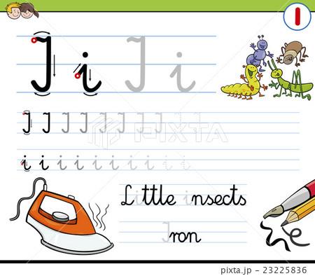 how to write letter iのイラスト素材 23225836 pixta