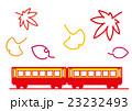 行楽の秋 鉄道で旅行 23232493