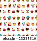 カップケーキ 背景 ベクターのイラスト 23235619