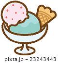 アイスクリーム スイーツ お菓子のイラスト 23243443