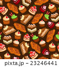 Cakes, cupcakes and waffles seamless pattern 23246441