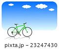 自転車と青空 クロスバイク ライムグリーン 23247430