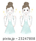女性 美容 スキンケアのイラスト 23247808
