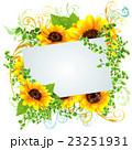 向日葵 花 フレームのイラスト 23251931