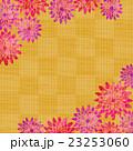 菊 花柄 市松模様のイラスト 23253060