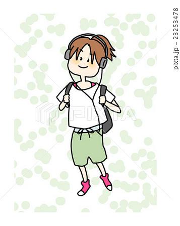 サブカル女子輝く女の子シリーズのイラスト素材 23253478 Pixta