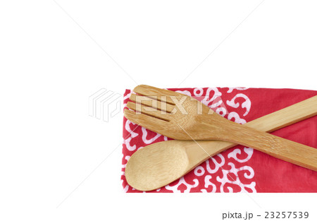 Wooden kitchen utensils isolated on white 23257539