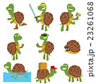 Cartoon turtles vector set. 23261068