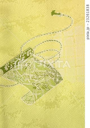 日本の紋様 絹織物 染め物 宝巻柄 巻き軸  23261838