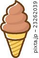 ソフトクリーム スイーツ お菓子のイラスト 23262039