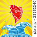 鯛 波 海のイラスト 23262240