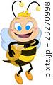 Drooling Bee Holds Honey Jar 23270998