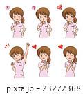 女性 バリエーション 看護師のイラスト 23272368