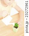 植物を世話する女の子 植物を育てる パーツカット ボディパーツ ボディーパーツ 23272961