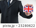 イギリス国旗とビジネスイメージ 23280622