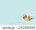 鴛鴦と流水文様 23280930