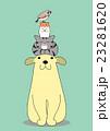 頭の上に積み重なるペットたち 23281620