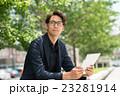 ビジネスマン タブレット ビジネスの写真 23281914