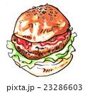 ハンバーガーのイラスト 23286603