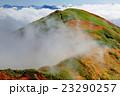 上越国境・茂倉岳から見る雲湧く一ノ倉岳と雲上の尾瀬の山々 23290257