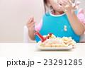 誕生日 バースデー (赤ちゃん ケーキ 手掴み ベビー パーティー 乳児 女の子 1才 1歳) 23291285