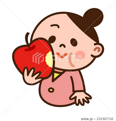 リンゴを食べる女の子 23292710