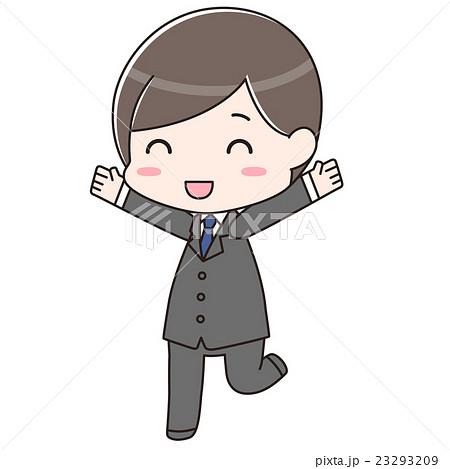 スーツ男性 喜び 23293209
