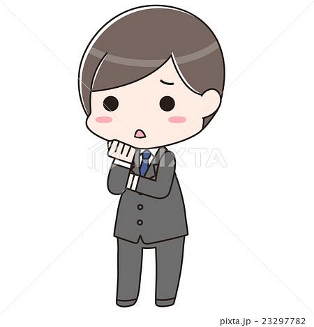 スーツ男性 不安 23297782