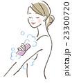 女性 体を洗う 23300720
