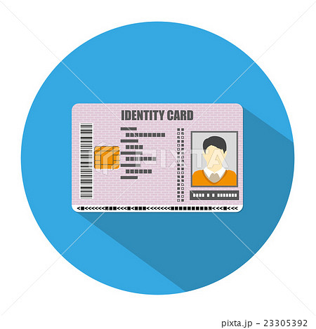 identification card icon vector illustrationのイラスト素材