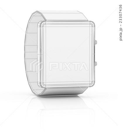 Smart watch prototype, template for designのイラスト素材 [23307436] - PIXTA