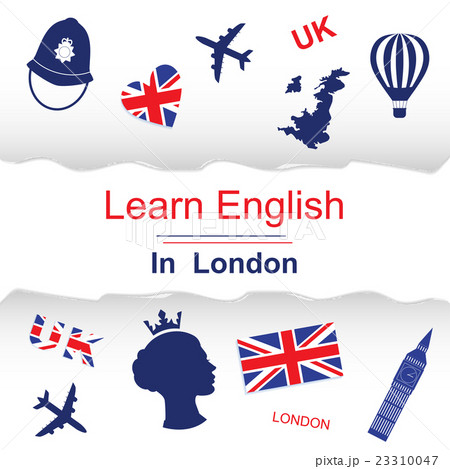 Learn english in London posterのイラスト素材 [23310047] - PIXTA