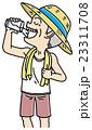 男性 シニア 水分補給のイラスト 23311708
