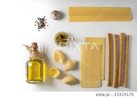 Italian food mix on the white backgroundの写真素材 [23314170] - PIXTA