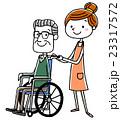介護 シニア スタッフのイラスト 23317572
