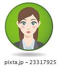女性 正面 顔のイラスト 23317925