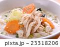 豆乳ゴマうどん うどん 食べ物の写真 23318206