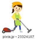 かわいいエプロンの女性掃除 23324107