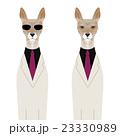 動物 犬 白バックのイラスト 23330989