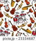 Seamless pattern of orchestra musical instruments 23334687
