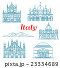 Architecture and nature travel landmarks of Italy 23334689