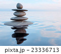 Balanced Zen stones in water  23336713
