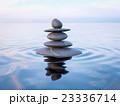 Balanced Zen stones in water  23336714