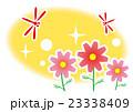 秋桜と赤とんぼ 23338409