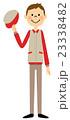挨拶する作業服の男性 23338482