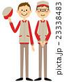 挨拶する作業服の男性 23338483