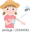 虫除け 女の子 子供のイラスト 23340381