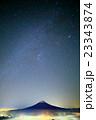 三つ峠から見る星空と富士山 23343874